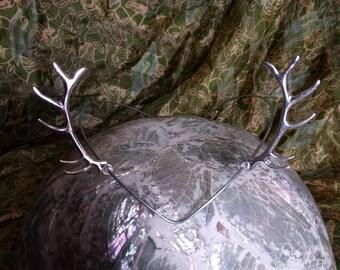 Antler Tiara - Horned Crown - Woodland Crown - Goddess Circlet - Elven Crown - Deer Crown - Deer Antler Tiara