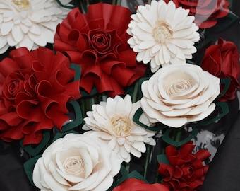 1 dozen paper flower bouquet