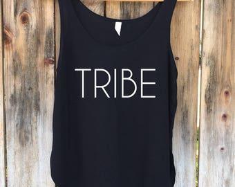 Tribe Tank, Tribe Shirt, Wedding Tank Top, Bachelorette Party Tanktop, Bridal Party Top - Side Slit Tank Top