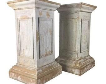 Customizable Unfinished Pine Pedestal Base