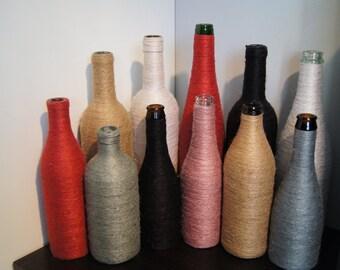 Twined glass bottle