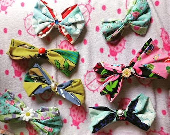 Handmade clip-in hair bows