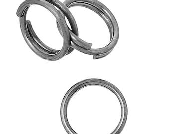 200 pcs Double Rings - Stainless Steel Split Jump Rings - 7mm - Hypoallergenic!