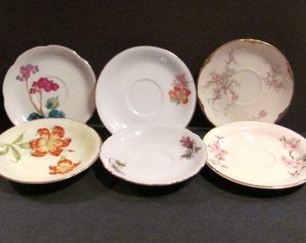 Six Vintage Saucers