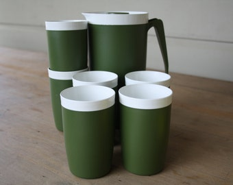 DISCOUNTED Welmaid plastics jug and 6 matching cups