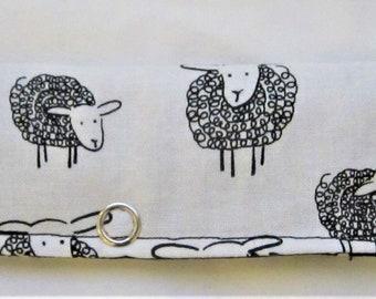 Knitting Needle Keeper for Circulars -  Wooley Sheep White
