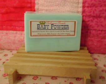 Baby Powder Shea Butter & Goats Milk Soap