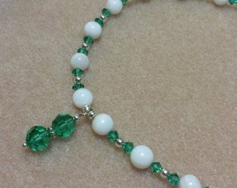 Girls Birthstone Crystal Necklace - MAY