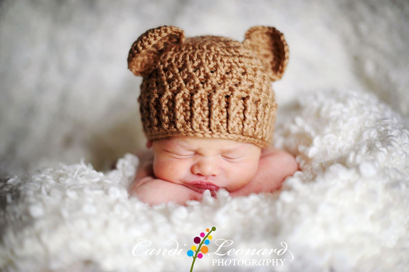 Pdf crochet pattern teddy bear hat sizes newborn to 12 zoom dt1010fo