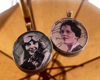 Amelia Earhart Pendant