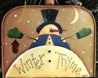 Snowman Decorations,, Christmas Decorations, Tree Decorations, Mini Tin Shovel, Door Hanger, Porch Decorations, Winter Greetings