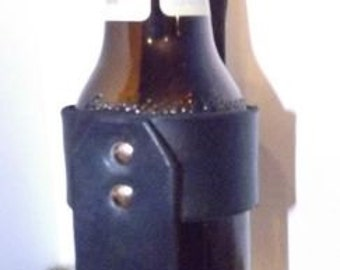 Leather Beer Holster/ Holder