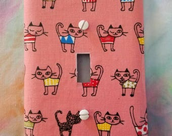 Cats in Bathing Suits Light Switch Plate