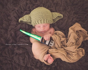 Star Wars Baby Yoda Hat Preemie Newborn 0 3m 6m Crochet Photo Prop Baby Clothes Boys Girls Gender Neutral Daddys Fathers Day Gift So Cute