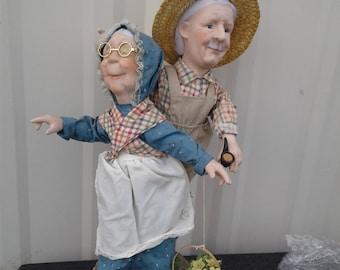 Grandma and Grandpa dolls i think it was made. Before 2000's