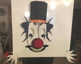 Clown Sculpture Panel