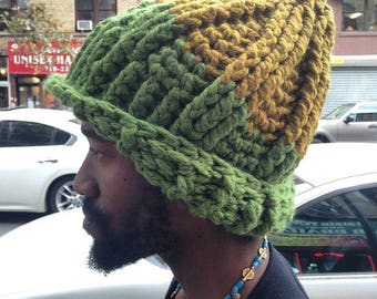 The Seven Ski Hat in Grass & Gold/Chunky Winter Hat