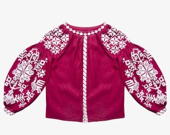 Ukrainian Vyshyvanka blouse Embroidered Women Blouse Boho Stile Gift for Wife Gift for Girl
