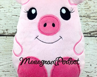 Ready to Ship - Pig Wobble Buddie Pillow, Plush Soft Toy - Not Personalized