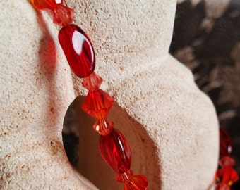 Rote heiße Swarovski Armband, verdreht, Glas, Swarovski Cystals, perfekt als Geschenk