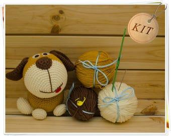 Crochet Dog Kit, Amigurumi Dog Kit, DIY Dog Kit, Crochet Puppy Kit, Dog Craft Kit, Plush Dog Kit, Dog Kit Set, Crochet Dog Puppy Gift
