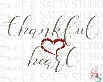 thankful heart digital file