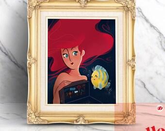 The Little Mermaid Illustration Print