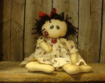 Primitive Raggedy Ann Doll~Raggedy Ann~Raggedy Annie~Doll~Ragdoll