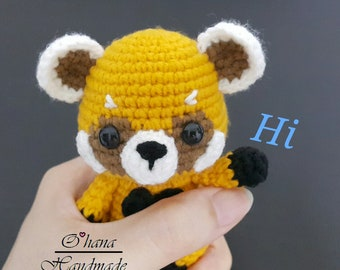 Little Red Panda Pattern