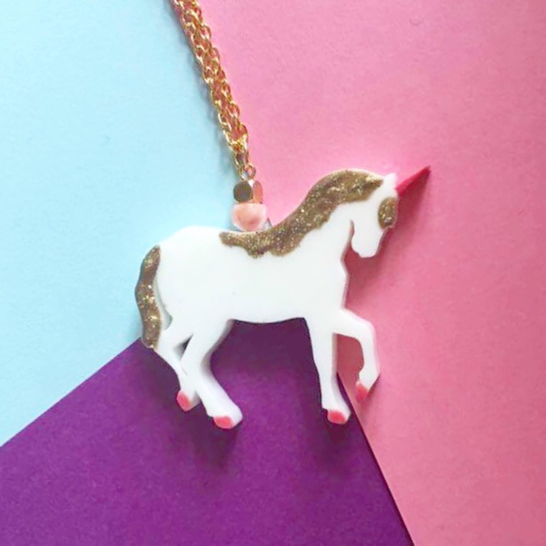 Einhorn Halskette Weihnachtsgeschenke für ihre