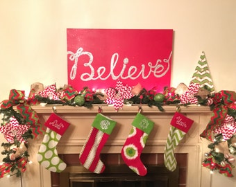 Monogrammed Handemade Christmas Stockings