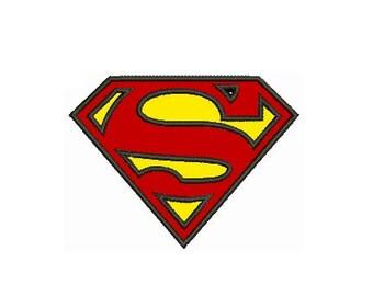 Superman applique etsy - Symbole de superman ...