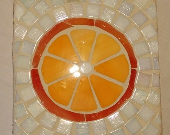 Orange Mosaic Trivet
