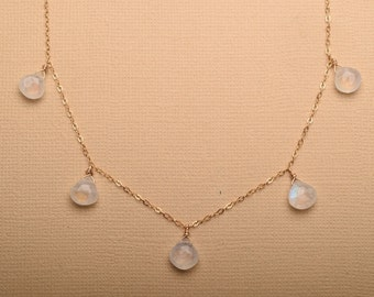 Moonstone Necklace, Moonstone Gold Chain Necklace, Gemstone Gold Chain Necklace, Healing Gemstone Jewelry, June Birthstone Jewelry