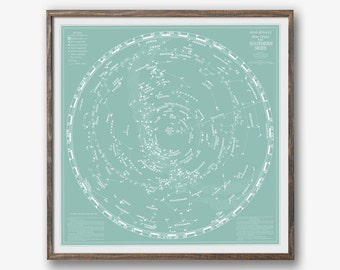 Star Chart, Map of the Heavens, Star Map, Planisphere, Constellation Map, Celestial Chart, Celestial Chart, Constellation Guide, Space Decor
