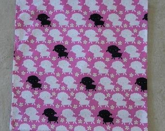 Bah Bah Black Sheep Flannel Swaddle Blanket Crib Blanket Receiving Blanket Light Cover up