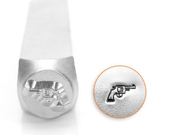 Revolver Metal Design Stamp ImpressArt- 6mm  Design Stamp-Steel Stamps
