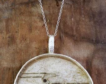 BirchEmbrace  (birch bark pendant)