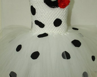 Halloween, Halloween costume, 101 Dalmatians, Dalmatians, Girls costume, girl dalmatian dress, girl costume, Disney, white, tutu dress
