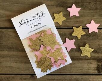Twinkle Twinkle Little Star Confetti, Star Confetti, Pink Star Confetti, Gold Star Confetti, Star Party, Star Decoration, Table Confetti