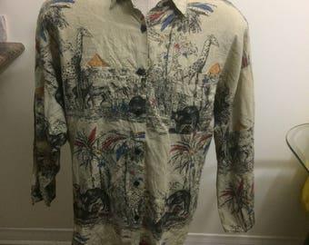 Vintage soho Hawaiian shirt size large