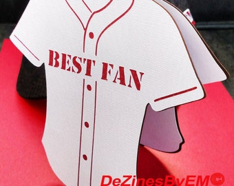 Best Fan Sports Jersey SVG card for Cricut, Silhouette and other machines using SVG. Father's Day SVG card. Sport svg baseball svg masculine