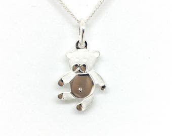 Necklace White bear, Silver 925/1000.