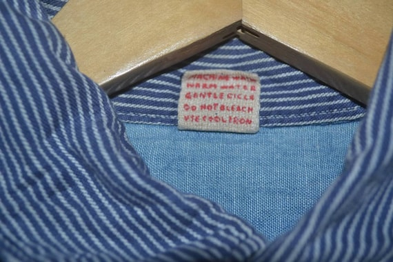 shirt buttonup 45RPM by Casual double pocket work R hickory stripe zqwRSW118