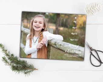 Photo Holiday Cards // Printable Christmas Cards // Christmas Cards // 5x7 Printable Photo Holiday Greeting Card // The Adams