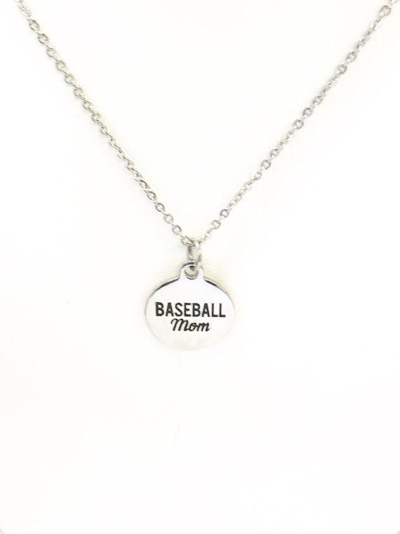 Baseball Mom Necklace, Baseball Mom Gifts, Baseball Mom Jewelry, Necklace Gift For Mom, Baseball Necklace, Proud Baseball Mom Gift