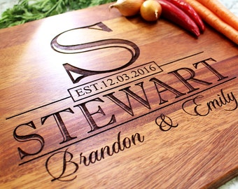 Personalized Cutting Board - Engraved Cutting Board, Custom Cutting Board, Wedding Gift, Engagement Gift, Anniversary Gift W-015 GB