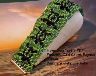 Honu Sea Turtle Bracelet Odd Count Peyote Complete Kit
