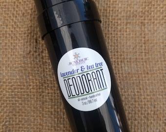 Stick Deodorant made with Organic Ingredients // Lavender + Tea Tree