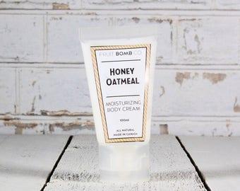 Honey Oatmeal Natural Moisturizing Body Cream - 30ml
